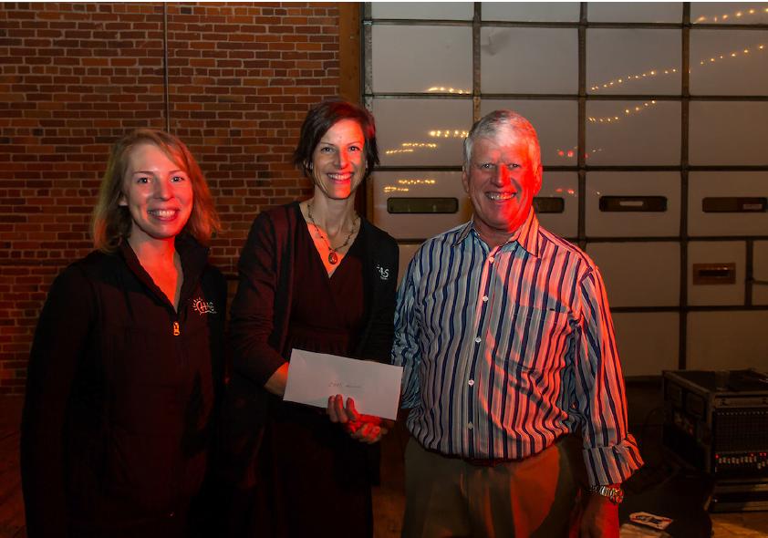 From L to R: Lindsey Ruivivar, CHAS; Katrina Schneider, PA-C, CHAS Denny Murphy Clinic; Tim Murphy, The Pink Shamrock Foundation