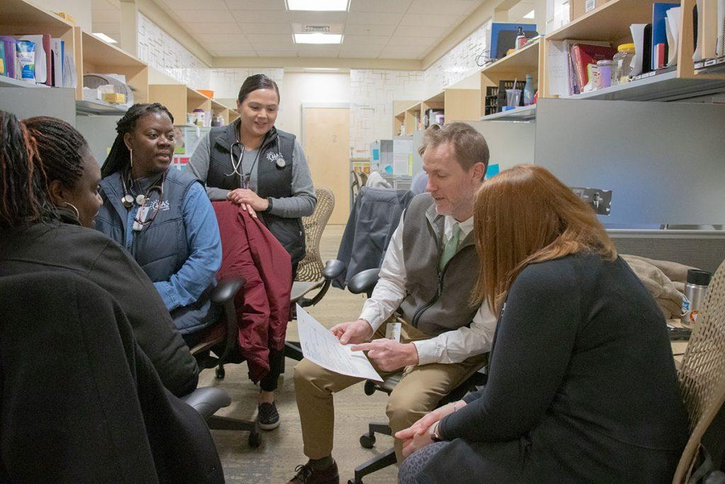 Nurse Practitioner Residency Program team meeting